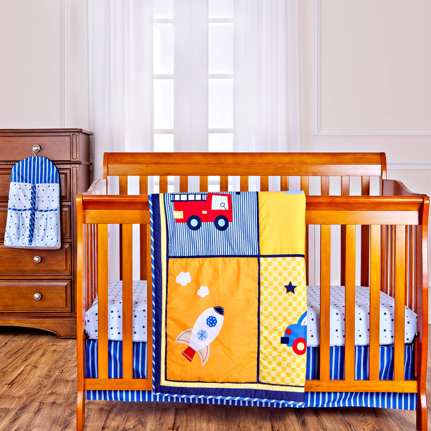 Dream On Me On The Go 4-Piece Reversible Full-Size Crib Bedding Set