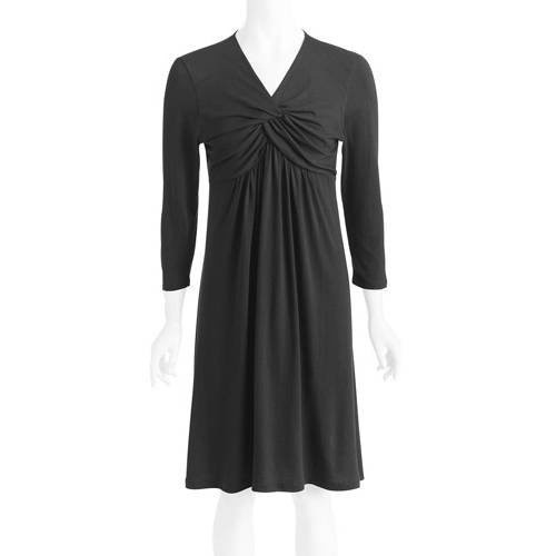 Women's 3/4 Sleeve Knot Front Dress