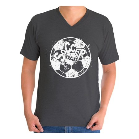 Awkward Styles Men's Soccer Dad Ball Graphic V-neck T-shirt Tops White Vintage Father`s Day Best Soccer (Top 10 Best Soccer Players In The World)