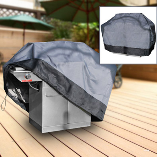"Durable Barbeque Gas Propane Grill Cover Gray Large 64"" Length"