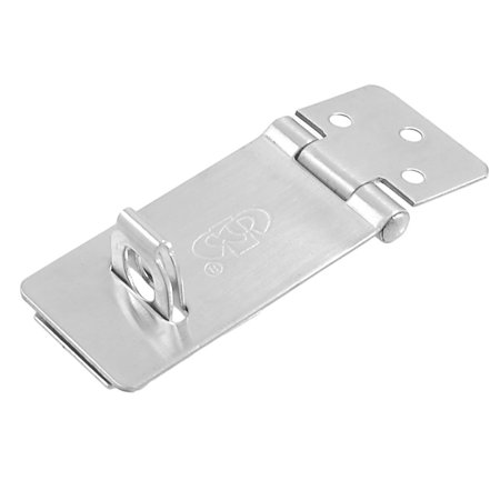 Sheds Gates Door Latch Silver Tone Stainless Steel Hasp Staple (Entry Shed)