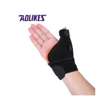 VICOODA A-1670 Fixed Thumb Hand Wrist Single Wrist Support Thumb Cover Wrap Belt Hand Strap Protector Right Hand Black - Fixed Thumb
