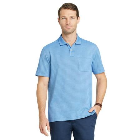 b2b7714fe Van Heusen - Van Heusen Men's Size Big and Tall Flex Jacquard Stripe Polo  Shirt - Walmart.com