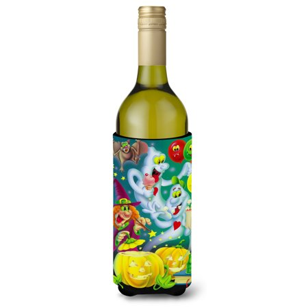 Witch Party with the Ghosts Halloween Wine Bottle Beverage Insulator Hugger APH0932LITERK](Halloween Decorated Wine Bottles)
