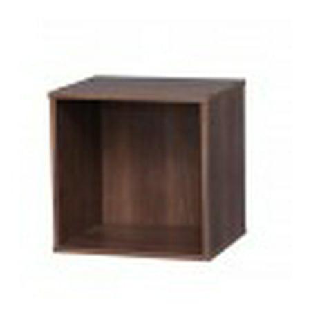 IRIS Baku Modular Wood Cube Box, Brown
