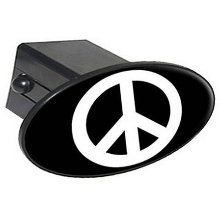 Football Helmet Trailer Hitch Cover (Peace Sign 2