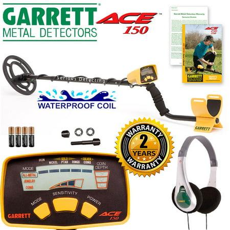 Garrett ACE 150 Metal Detector w/ Headphones & Waterproof
