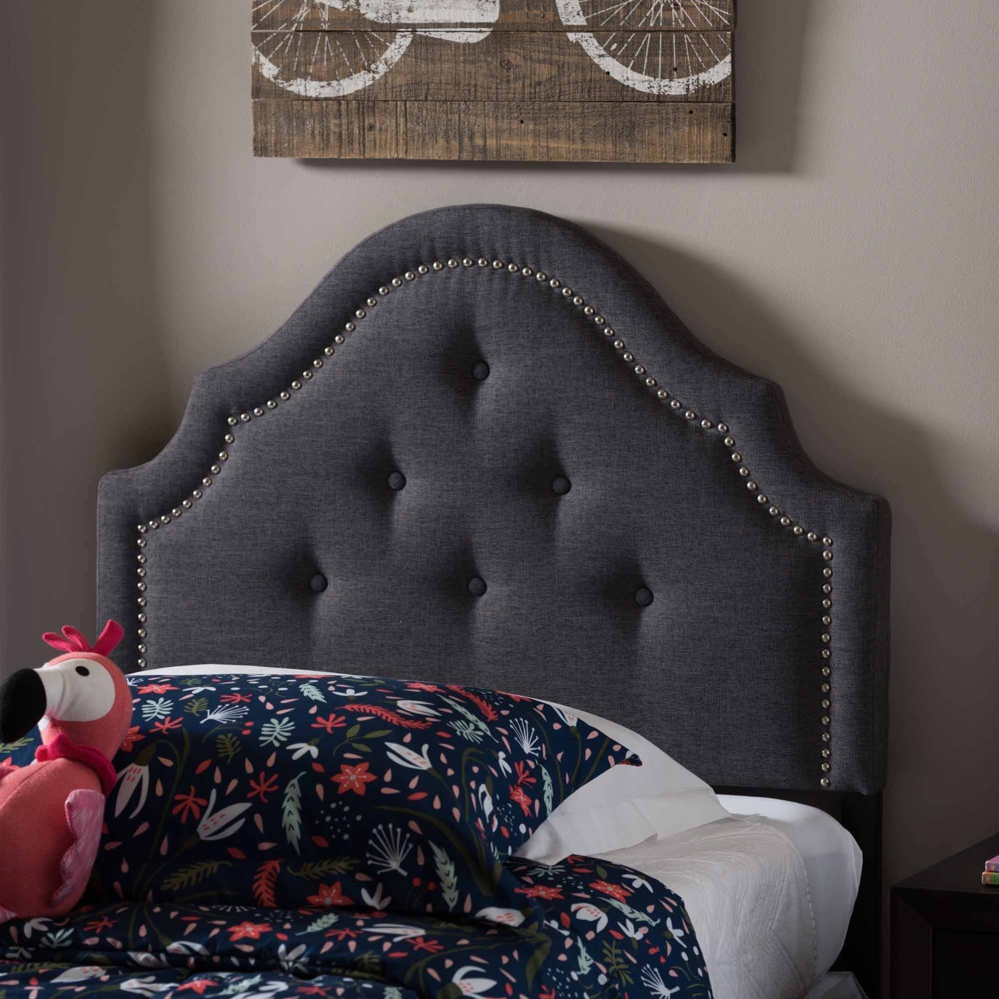 Baxton Studio Aubrey Modern and Contemporary Upholstered Twin Size Headboard, Multiple Finishes