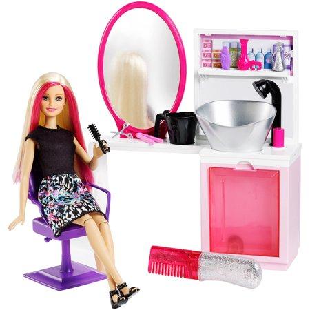 Barbie Sparkle Style Salon Doll Playset