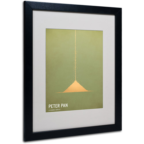 "Trademark Fine Art ""Peter Pan"" by Christian Jackson, Black Frame"