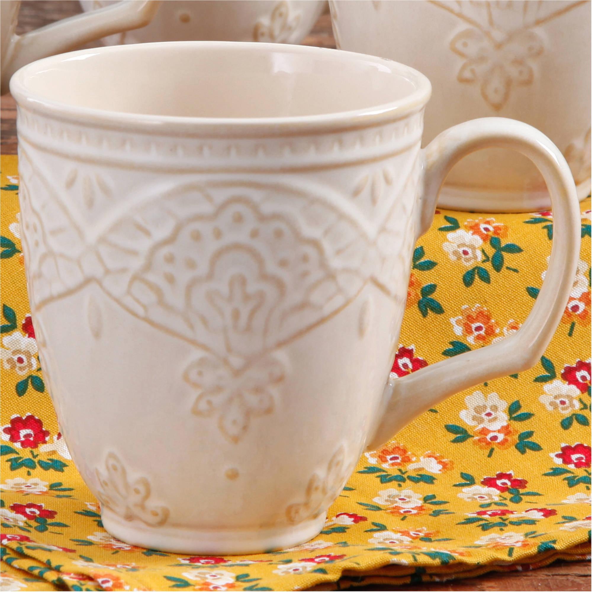 The Pioneer Woman Farmhouse Lace 17-Ounce Mug