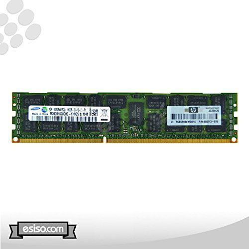 HP 32GB Kit (4X 8GB) 2RX4 PC3L-10600R Dual Rank ECC Regis...