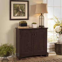 Bush Furniture Buena Vista Low Storage Cabinet with Doors in Madison Cherry