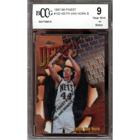 1997-98 finest w/peel #102 KEITH VAN HORN new jersey nets rookie card BGS BCCG 9 5 New Jersey Nets