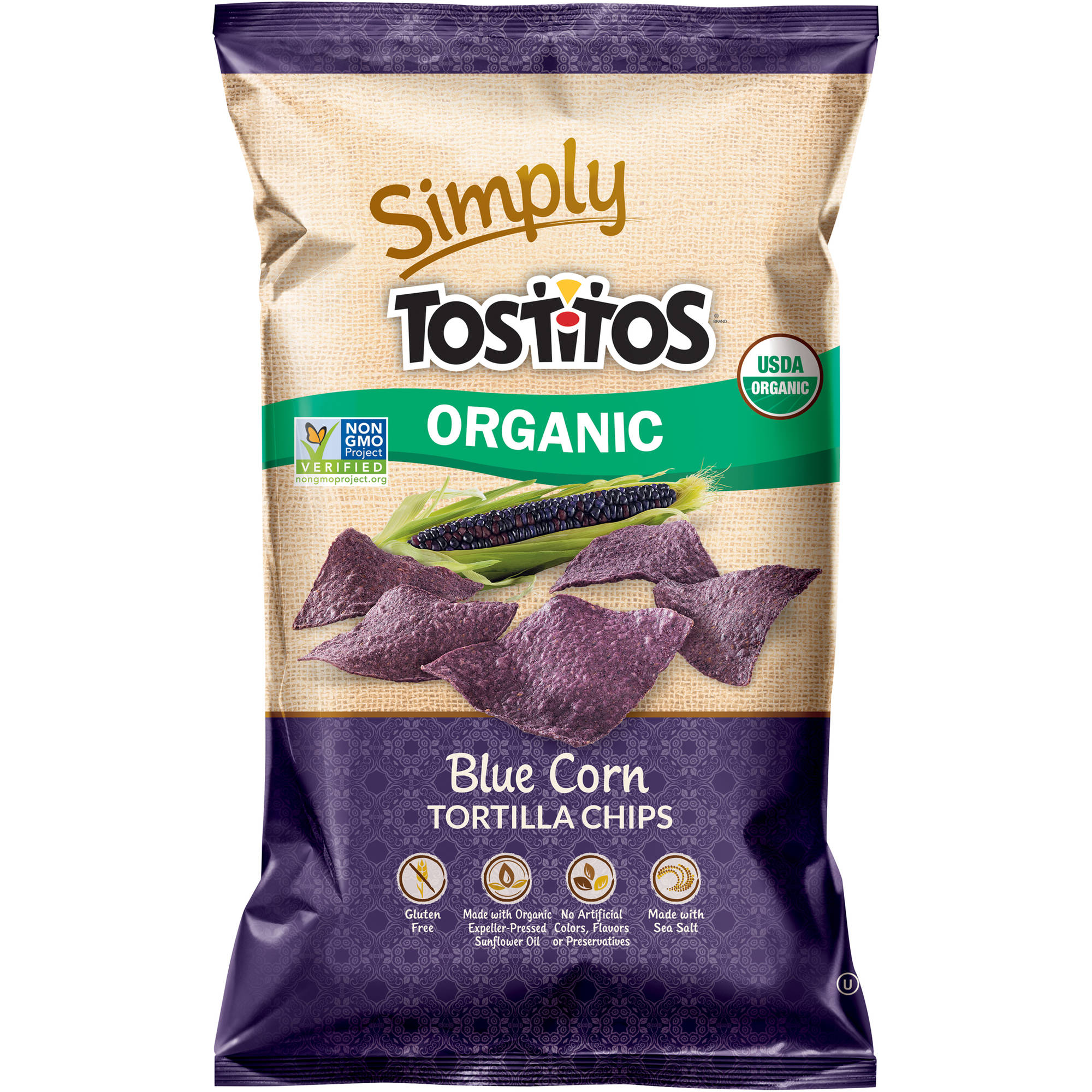 Tostitos Organic Blue Corn Tortilla Chips, 8.25 oz