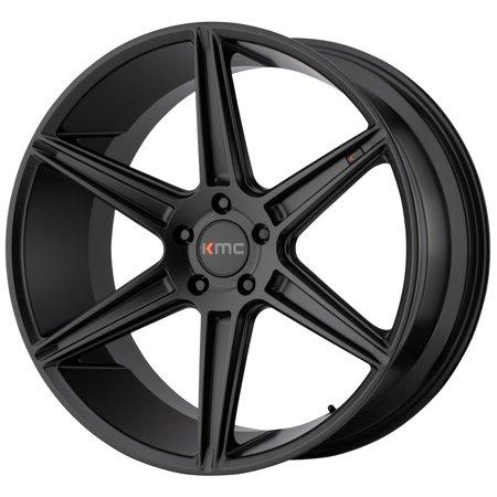 KMC KM711 Prism 22x10.5 5x112 +40mm Satin Black Wheel Rim 22