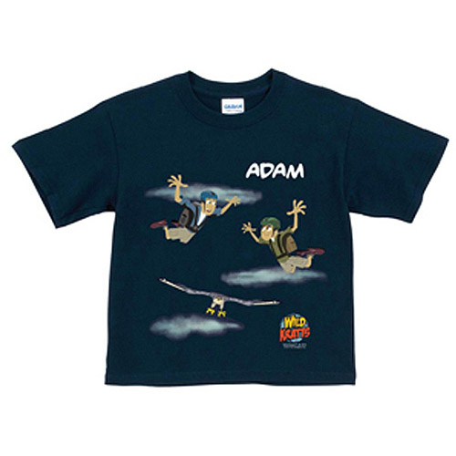 Personalized Wild Kratts Sky Diving Navy Boys' T-Shirt