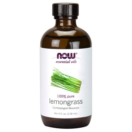 NOW Essential Oils, Lemongrass Oil, Uplifting Aromatherapy Scent, Steam Distilled, 100% Pure, Vegan, (Best 100 Percent Pure Essential Oils)