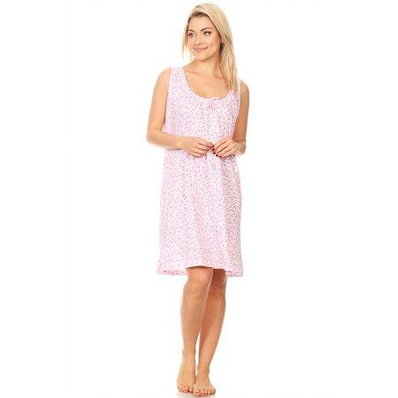 5c50e5743e Lati Fashion - 903 Womens Nightgown Sleepwear Cotton Pajamas - Woman  Sleeveless Sleep Dress Nightshirt Pink L - Walmart.com