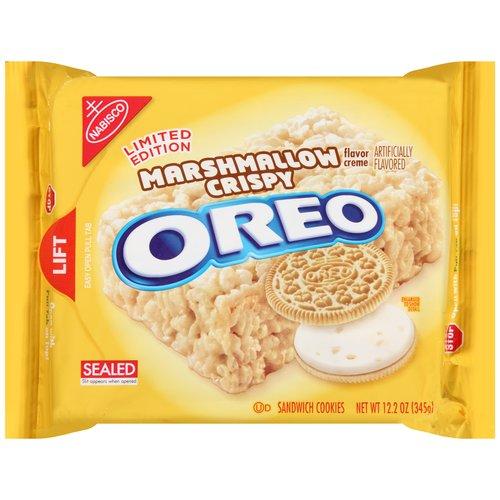 Nabisco Limited Edition Marshmallow Crispy Creme Oreo Sandwich Cookies, 12.2 oz