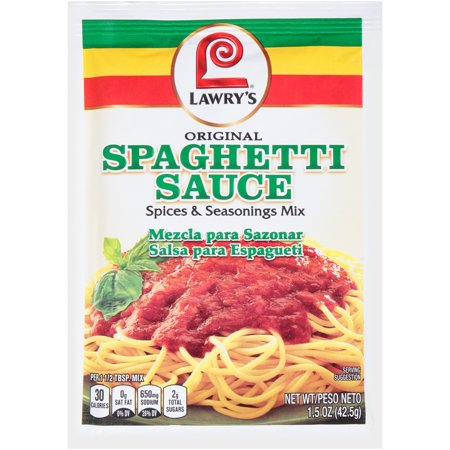 (4 Pack) Lawry's Spaghetti Mix, 1.5 oz