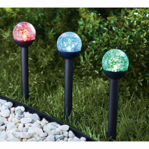 Mainstays Petite Crackle Ball Solar Powered Landscape