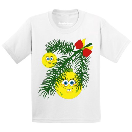 SpongeBob Shirt Christmas Shirts for Toddler Boys Girls Xmas Ball