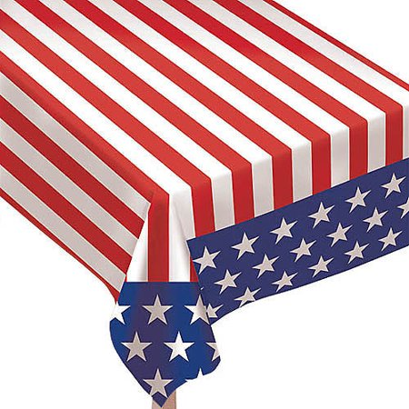 Table Striped (Amscan Stars and Stripes Table)