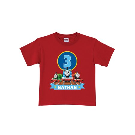 Personalized Thomas & Friends Red Birthday Boys' T-Shirt In Sizes: 2t, 3t, 4t,