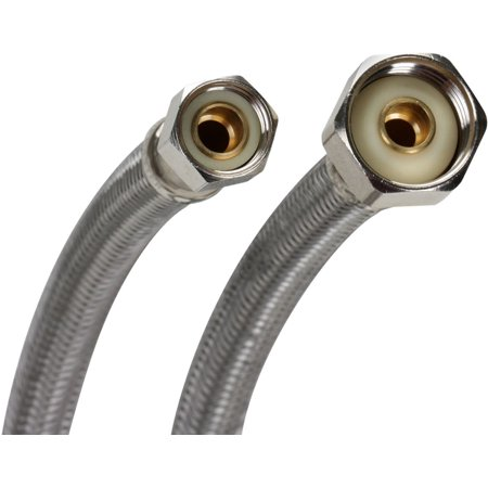 Fluidmaster PRO1F30 30in Faucet Connection Hose, 3/8in Compression x 1/2in F.I.P.