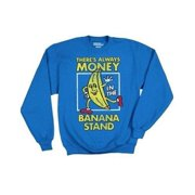 Arrested Development Bluth's Frozen Bananas Men's Blue Crewneck Sweatshirt, XX-Large