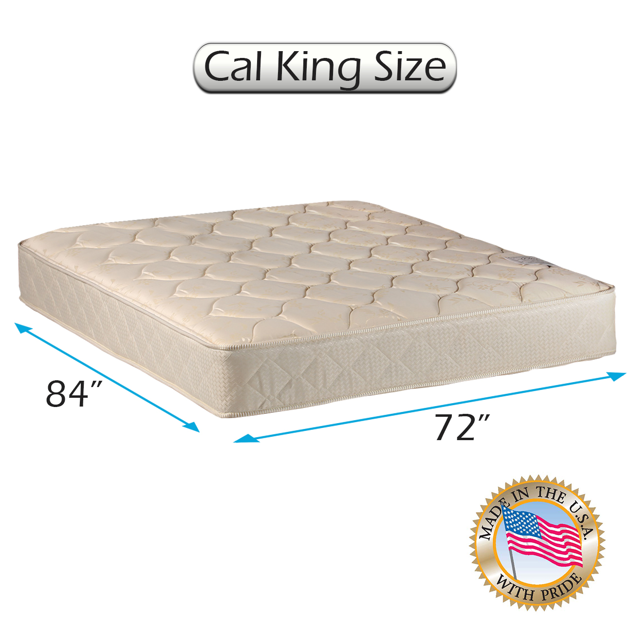"Comfort Classic Gentle Firm (California King - 72""x84""x9"") Mattress Only - Fully Assembled, Orthopedic, Good for your back, Superior Quality - Long Lasting and 1 Sided - By Dream Solutions USA"