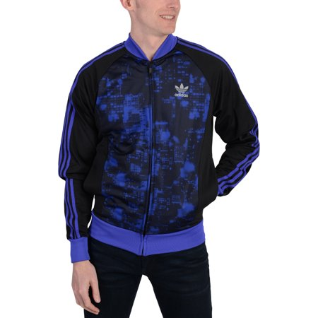 Adidas Mens Adidas Originals Superstar City Scape Track Jacket Purple