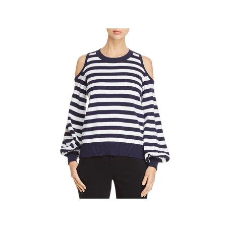 732b4f76e1dce MICHAEL Michael Kors - MICHAEL Michael Kors Womens Cold Shoulder Striped  Crewneck Sweater - Walmart.com