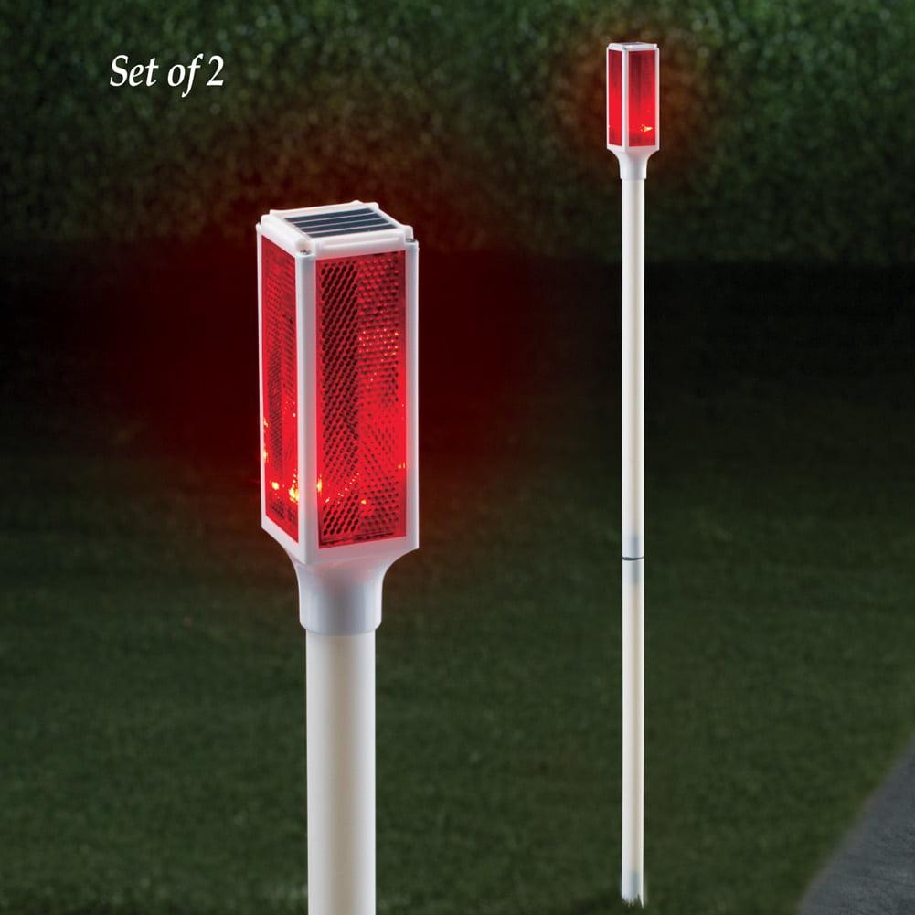 Solar Driveway Marker Lights - Set of 2