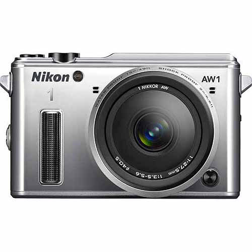 Nikon Silver AW1 Digital SLR Camera with 14.2 Megapixels and 11-27.5mm Lens Included