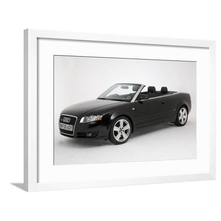 2008 Audi A4 2.0 tdi S Line Convertible Framed Print Wall Art Audi A4 Convertible Price