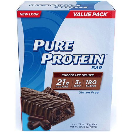 Pure Protein Bar, Chocolate Deluxe, 21g Protein, 6 (High 5 Protein Bar)