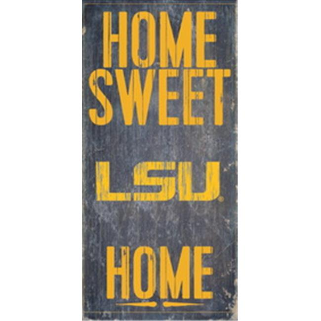 LSU Tigers Wood Sign - Home Sweet Home 6''x12''