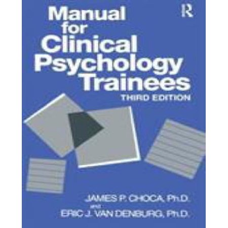Manual for clinical psychology trainees - image 1 of 1
