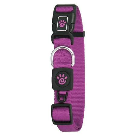 Doco DCSN1048-06S 4 ft. Signature Nylon Leash Dog Collar, Purple - Small