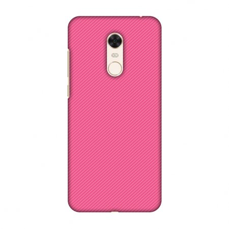 Xiaomi Redmi Note 5 Case - Carbon Fibre Redux Hot Pink 14, Hard Plastic Back Cover, Slim Profile Cute Printed Designer Snap on Case with Screen Cleaning Kit