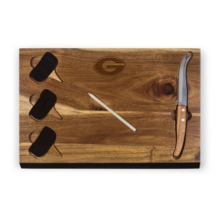 Georgia Bulldogs Delio Acacia Cheese Board with Acacia Markers - No Size