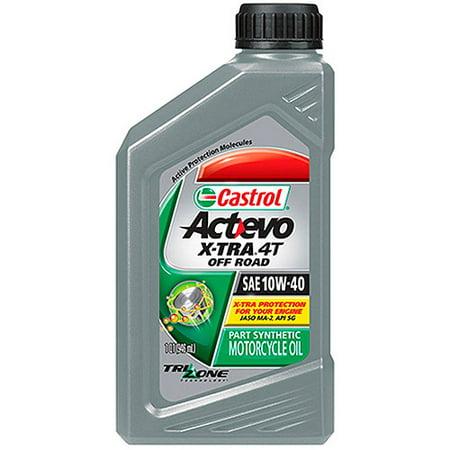 Castrol 10w40 Actevo 4t Motor Oil 1 Quart