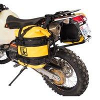 Pannier Racks with Wolfman Expedition Dry Saddle Bags Yellow for Husqvarna 701 ENDURO 2016-2018