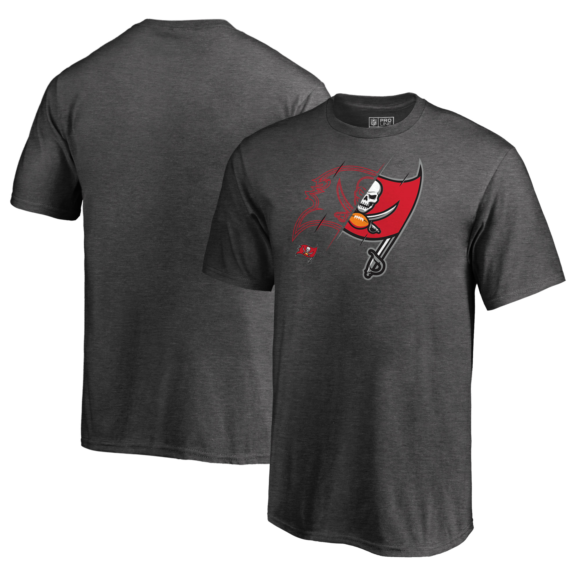 Tampa Bay Buccaneers NFL Pro Line by Fanatics Branded Youth X-Ray T-Shirt - Heathered Gray