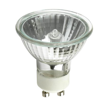 GE EXN G10 50w 120V MR16 GU10 Bright White Flood FL50 w/ FG Halogen Light (White Halogen Light Bulbs)