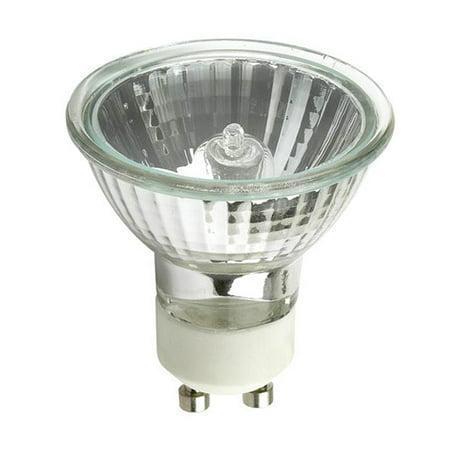 50w Mr16 Flood - GE EXN G10 50w 120V MR16 GU10 Bright White Flood FL50 w/ FG Halogen Light Bulb