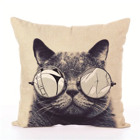 Throw Pillows Case Justdolife Cute Cat Cushion Cover Bed Sofa Fascinating Cute Decorative Bed Pillows