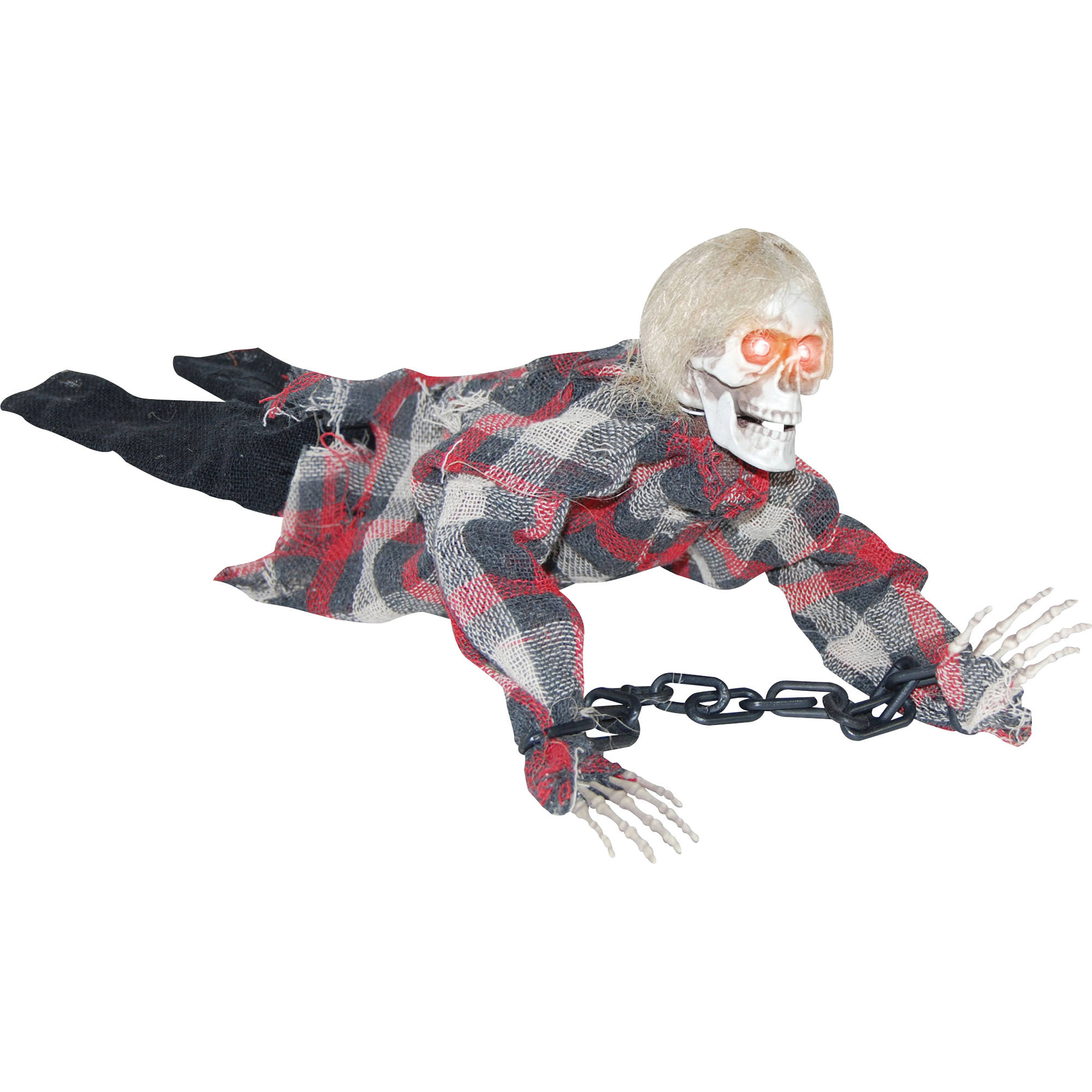 Animated Reaper In Chains Halloween Decoration